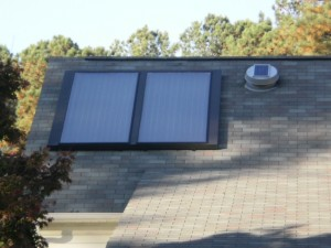 Solar Collectors flush mounted to roof