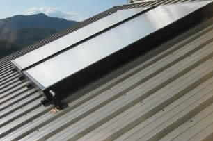 Solar Collector on Natahala Metal Roof