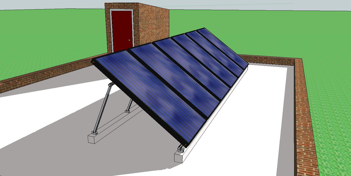 solar hot water panel installation instructions